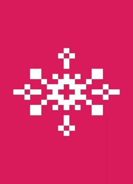 Pink Snowflake 1 Leinwandbild