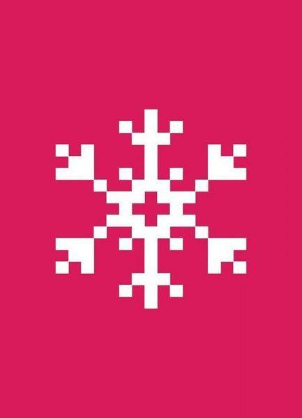 Pink Snowflake 2 Leinwandbild
