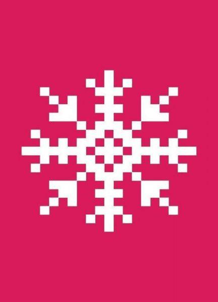 Pink Snowflake 3 Leinwandbild