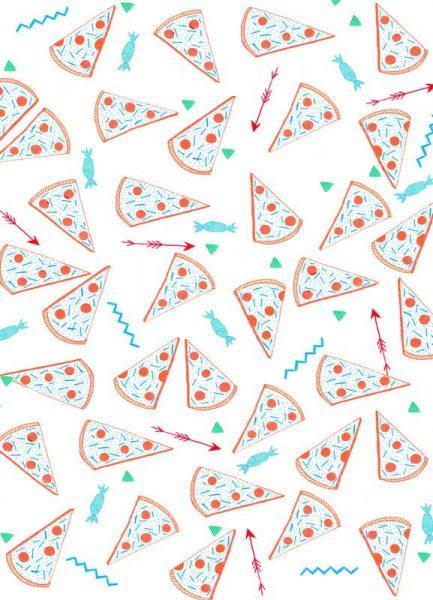 Pizza Leinwandbild