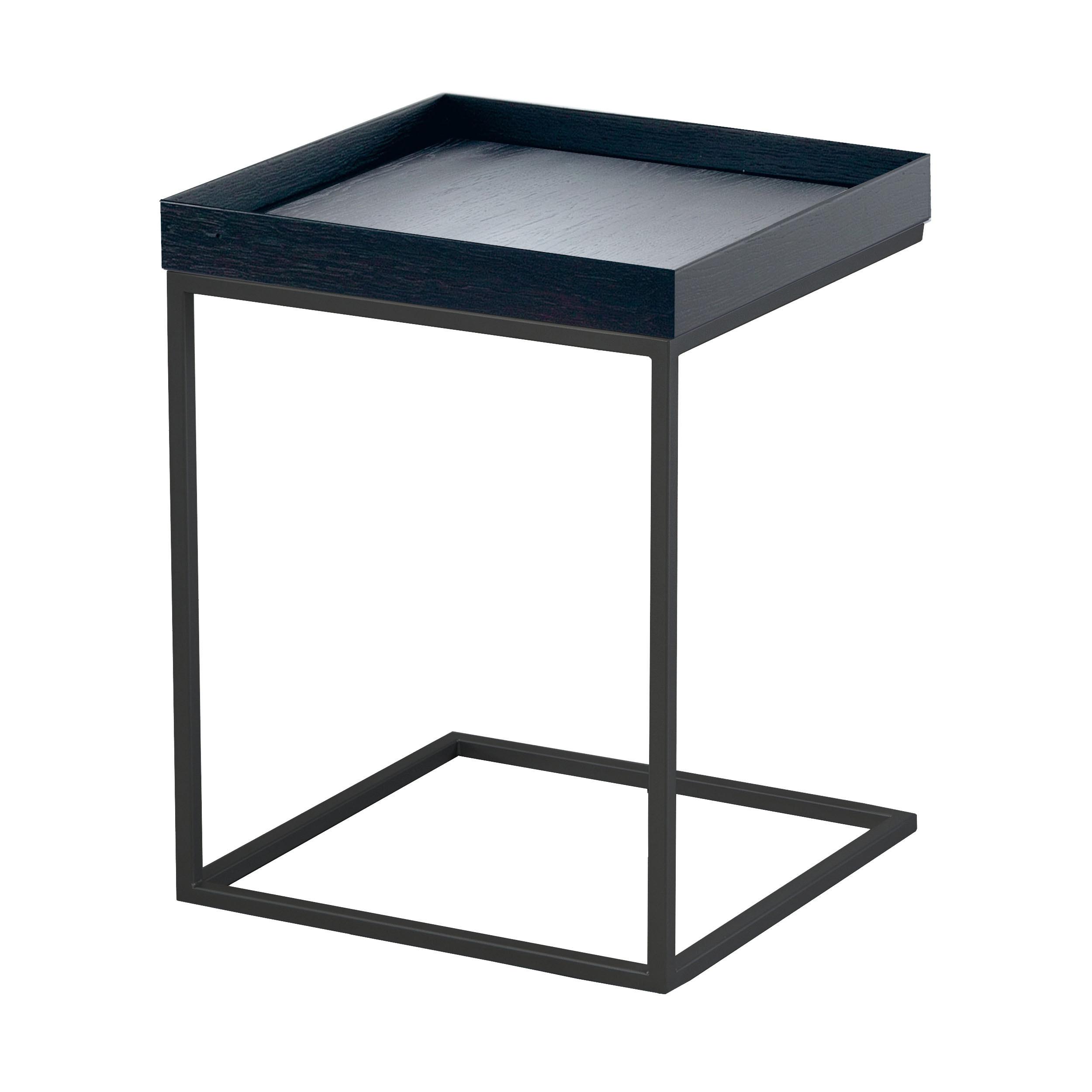 Pizzo 40 beistelltisch mit tablett schwarz for Beistelltisch tablett