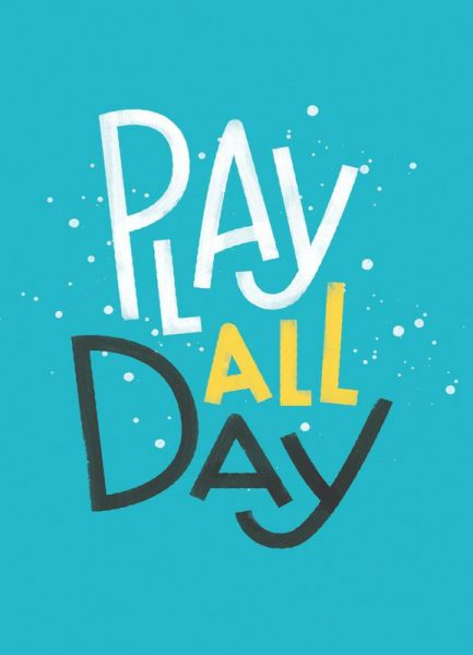 Play All Day Leinwandbild