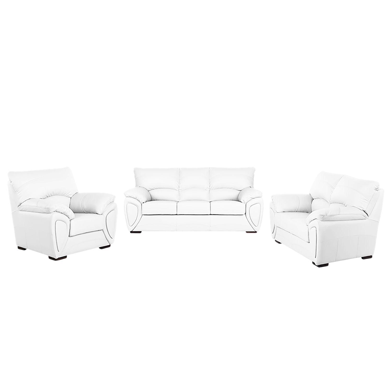 polstergarnitur luzzi 3 2 1 kunstleder wei fredriks online kaufen bei woonio. Black Bedroom Furniture Sets. Home Design Ideas