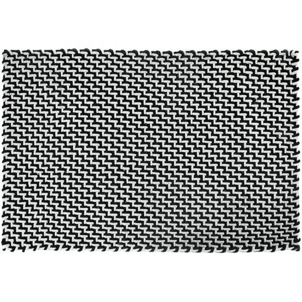 Pool Fußmatte Badematte Outdoorteppich 200 schwarz weiß