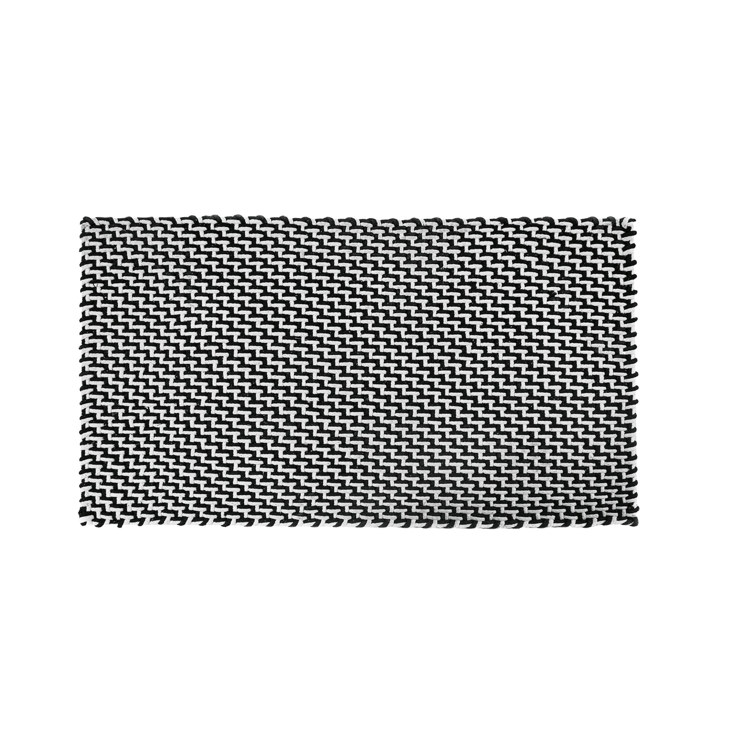 pool fu matte badematte outdoorteppich 92 schwarz wei online kaufen bei woonio. Black Bedroom Furniture Sets. Home Design Ideas