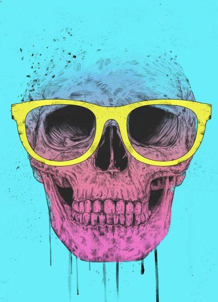 Pop Art Skull Leinwandbild
