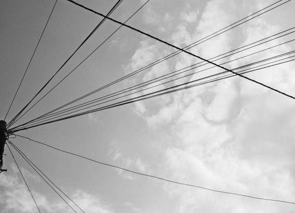 Power pole 2 Leinwandbild