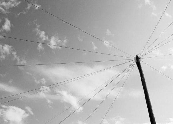 Power pole Leinwandbild