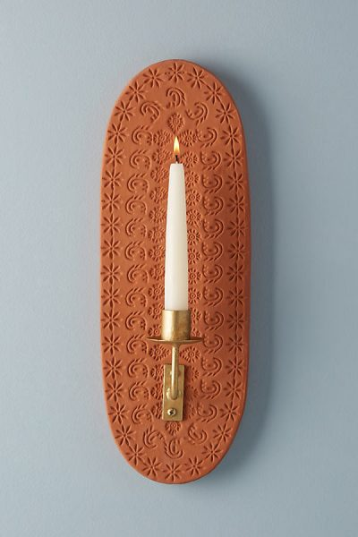 Pressed Kerzenhalter aus Terrakotta - Maize45284825EU