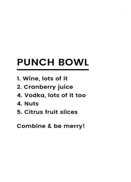 Punch Recipe Leinwandbild