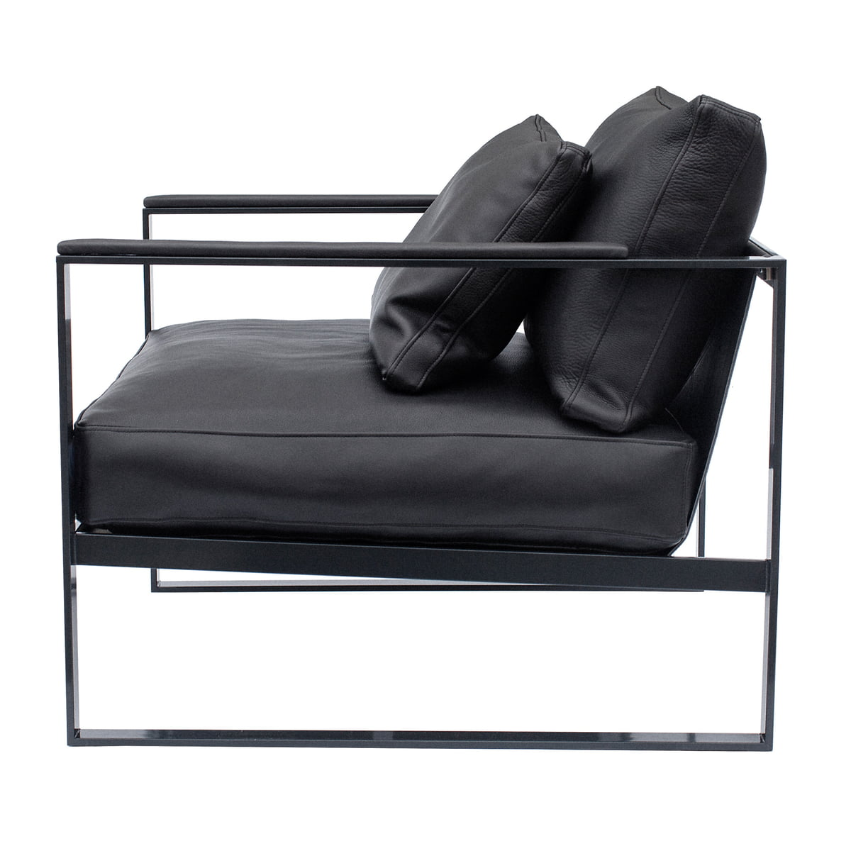 r shults monaco lounge chair schwarz leder. Black Bedroom Furniture Sets. Home Design Ideas