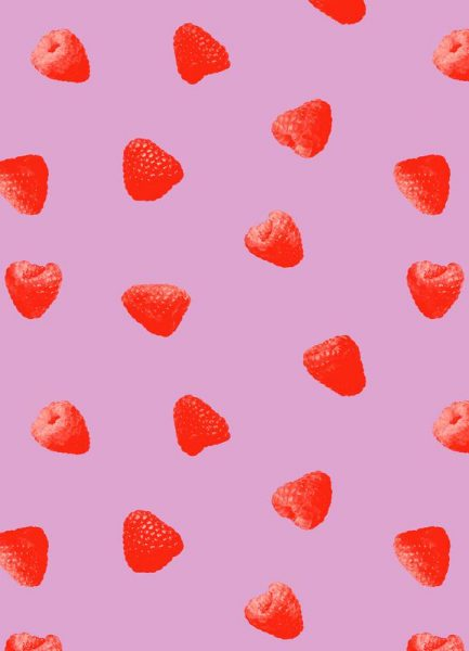Raspberry Heaven Leinwandbild