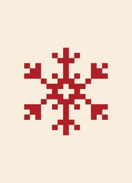 Red Snowflake 2 Leinwandbild