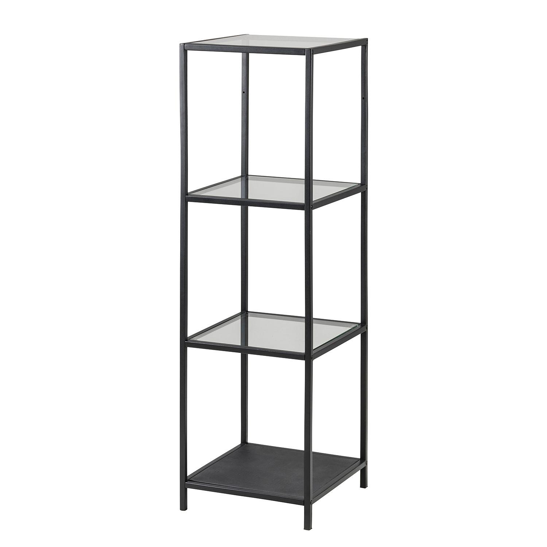 regal enmore glas metall matt schwarz 119 5 cm mooved online kaufen bei woonio. Black Bedroom Furniture Sets. Home Design Ideas