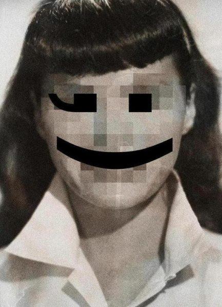 Retro Pop Emoticons Betty Leinwandbild
