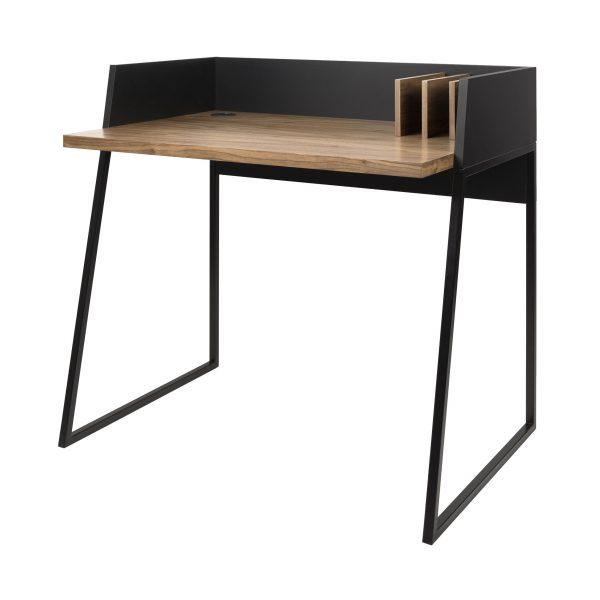 Revel Schreibtisch Nussbaum/schwarz