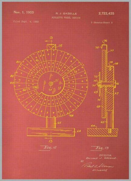 Roulette Wheel II Leinwandbild