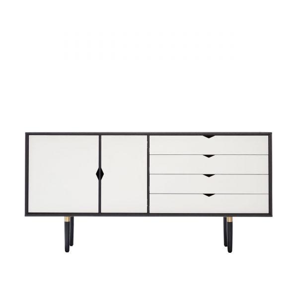 S6 Sideboard schwarz-weiß