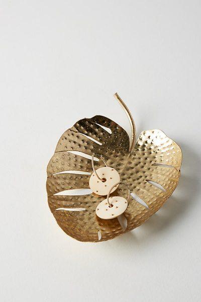Schale mit Palmenblattdesign - Gold42048876EU