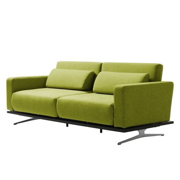Schlafsofa Copperfield I Webstoff - Stoff Nova Pistaziengrün