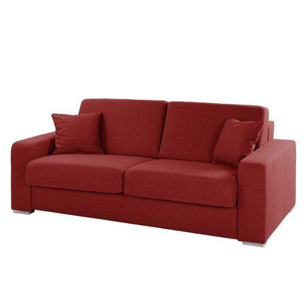 Schlafsofa Coro Webstoff - Rot
