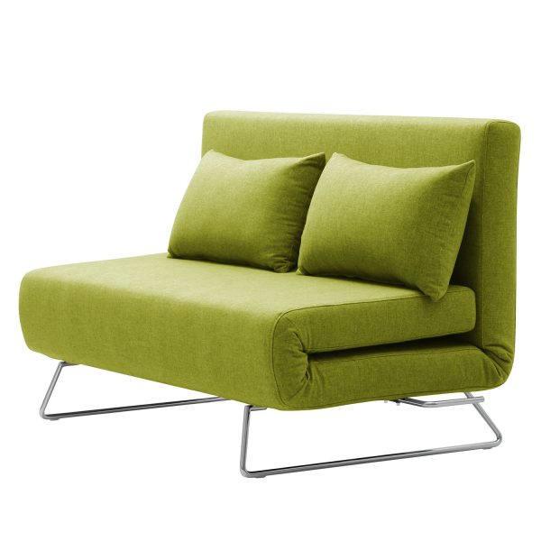 Schlafsofa Frizzo Webstoff - Stoff Nova Pistaziengrün