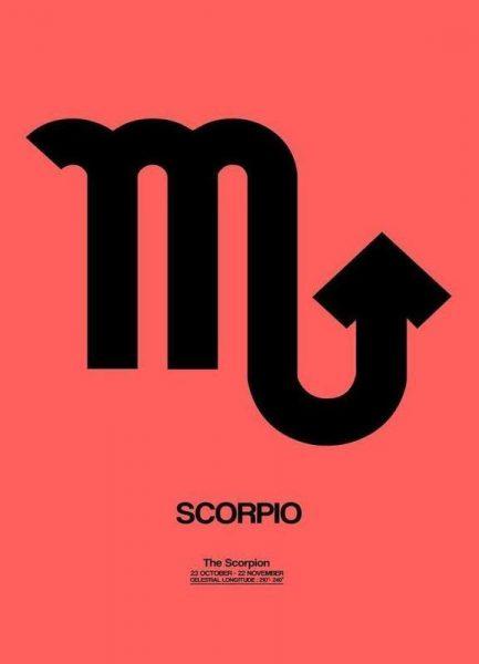 Scorpio Zodiac Sign Black Leinwandbild