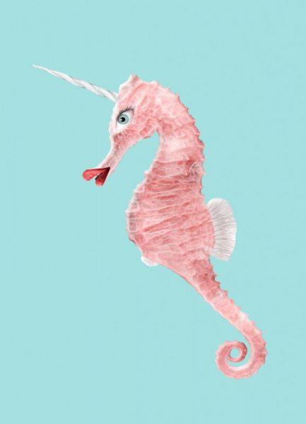 Sea Unicorn Leinwandbild