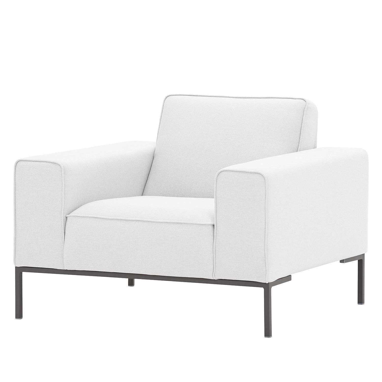 sessel ampio webstoff grau stoff floreana wei studio. Black Bedroom Furniture Sets. Home Design Ideas