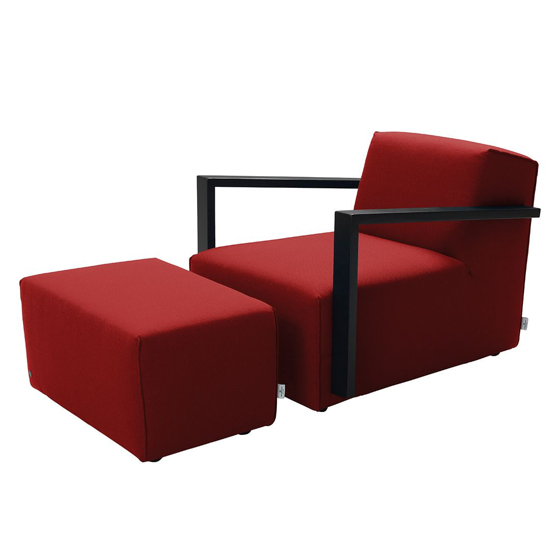 sessel lazy webstoff mit hocker rot tom tailor online kaufen bei woonio. Black Bedroom Furniture Sets. Home Design Ideas