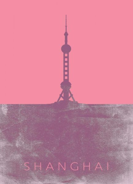 Shanghai Leinwandbild