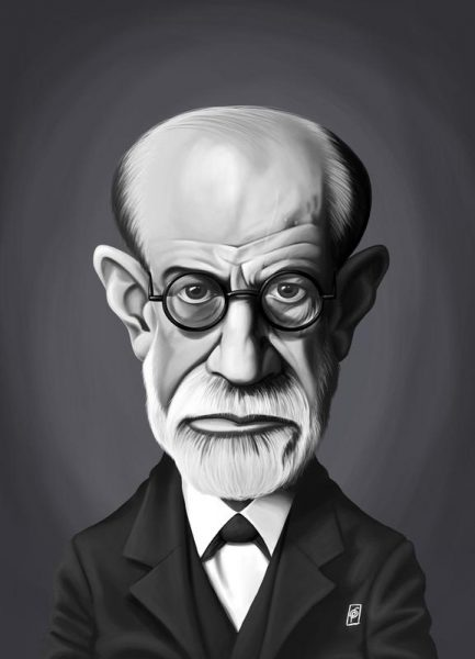 Sigmund Freud Leinwandbild