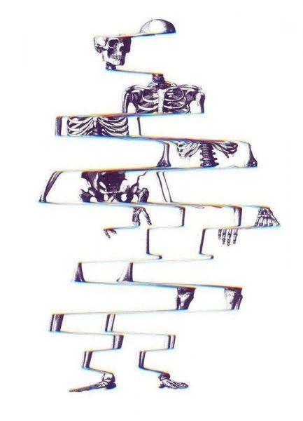 Skeleton Leinwandbild