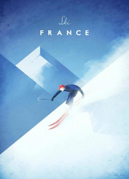 Ski France Leinwandbild