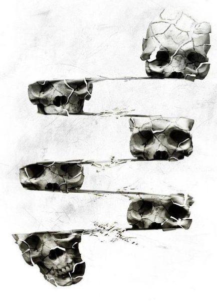 Skull III Leinwandbild