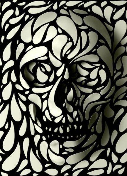 Skull IV Leinwandbild