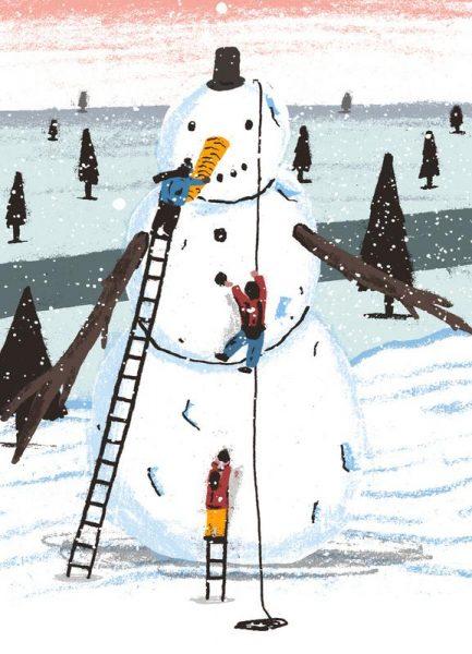 Snowman Leinwandbild