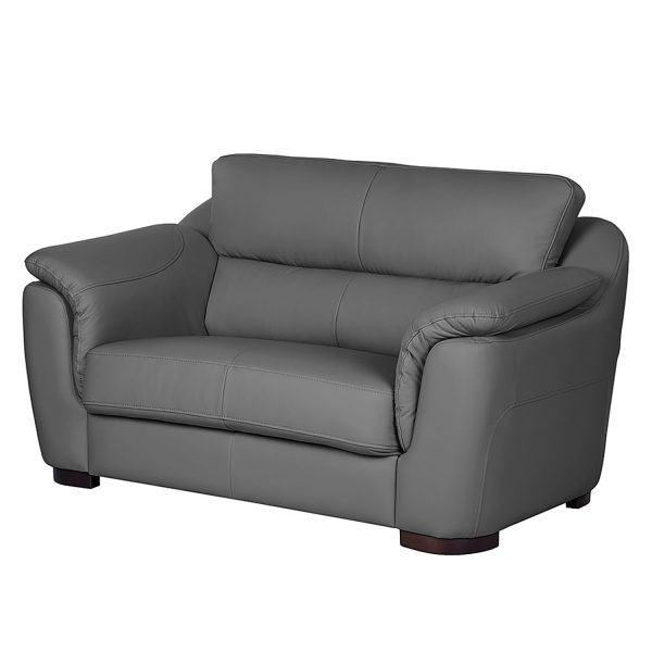 Sofa Alzira (2-Sitzer) - Kunstleder - Grau