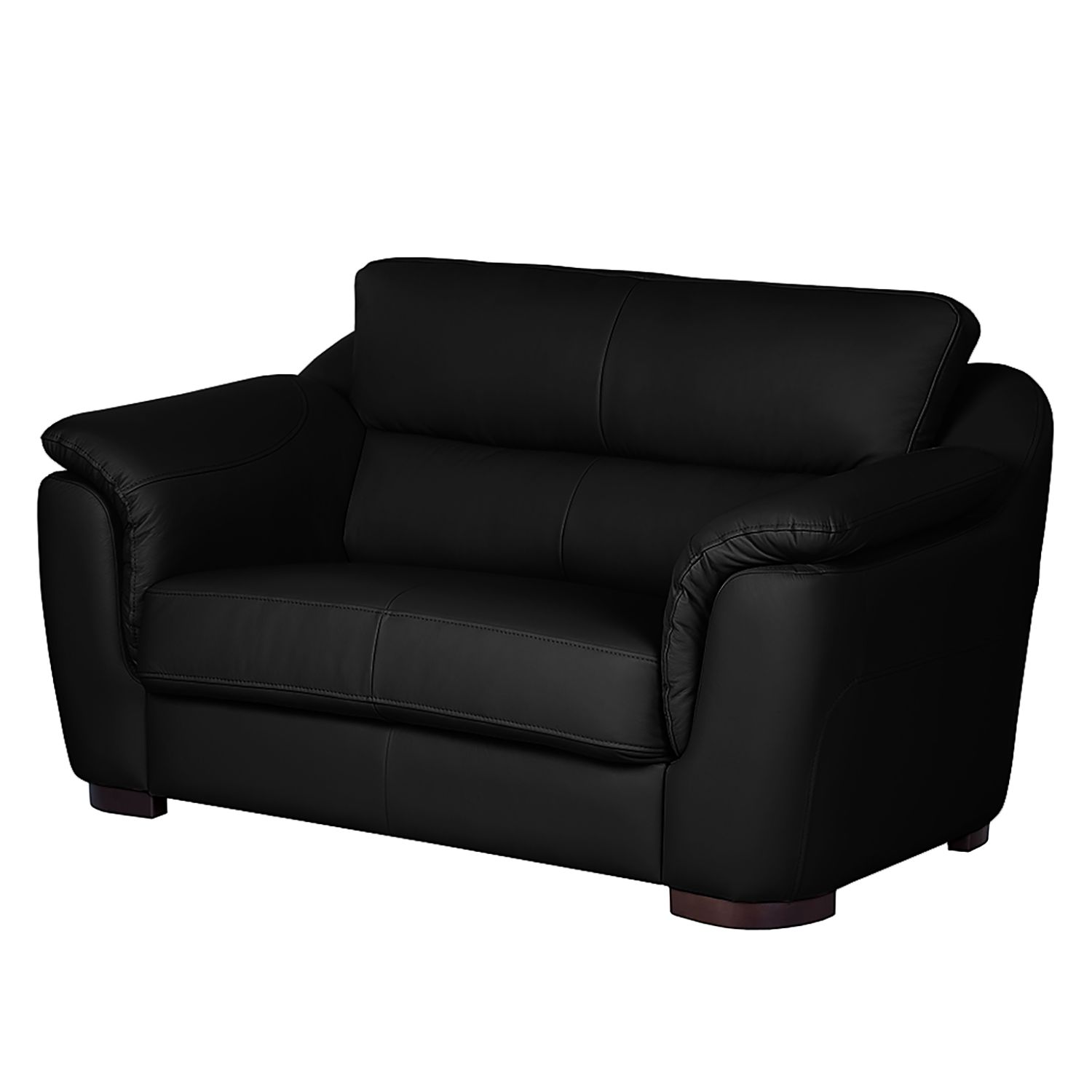 sofa alzira 2 sitzer kunstleder schwarz fredriks online kaufen bei woonio. Black Bedroom Furniture Sets. Home Design Ideas