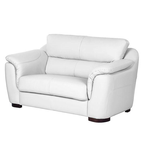 Sofa Alzira (2-Sitzer) - Kunstleder - Weiß
