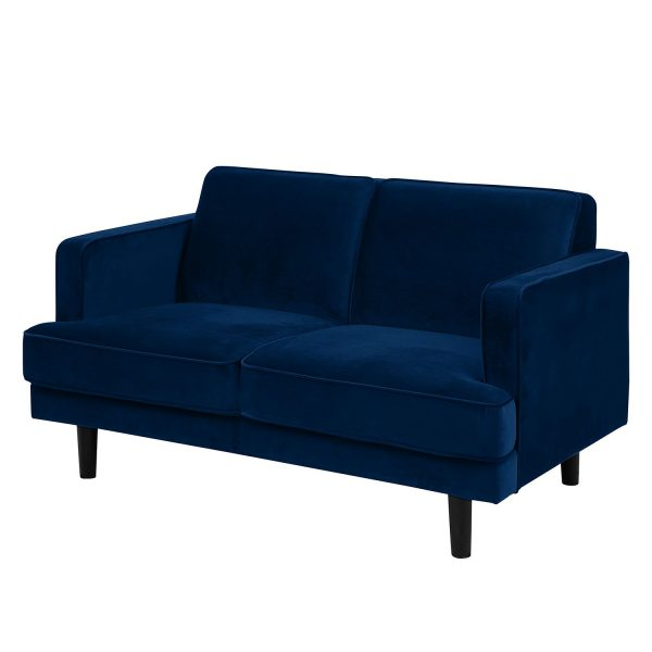Sofa Barnwell Microfaser (2-Sitzer) - Dunkelblau