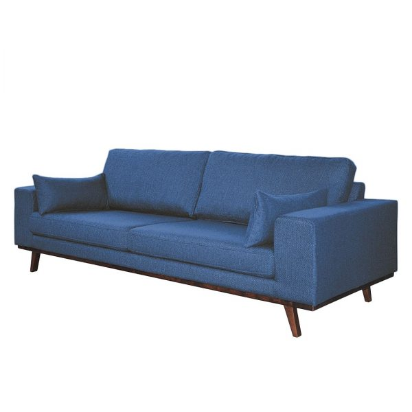 Sofa Billund (3-Sitzer) Strukturstoff - Jeansblau