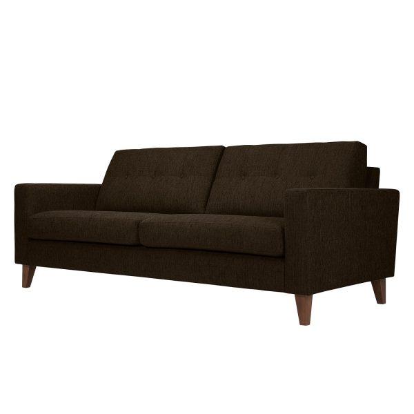 Sofa Cooper (3-Sitzer) Webstoff - Stoff Akenia Braun