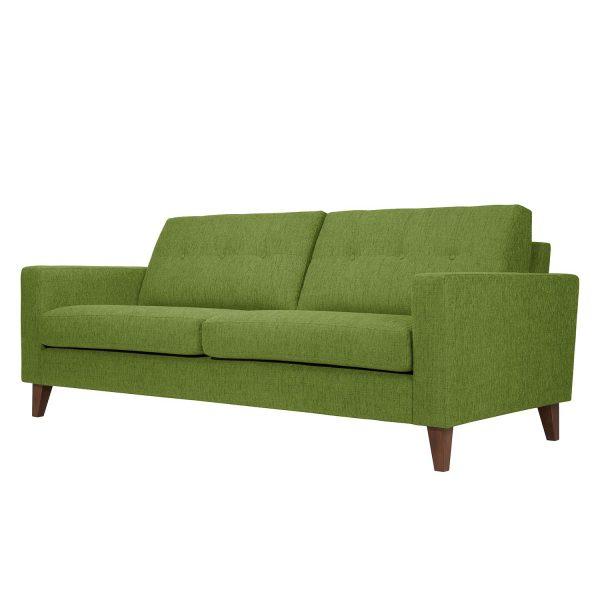 Sofa Cooper (3-Sitzer) Webstoff - Stoff Akenia Grün