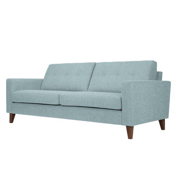 Sofa Cooper (3-Sitzer) Webstoff - Stoff Akenia Hellblau