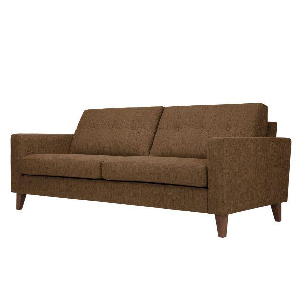 Sofa Cooper (3-Sitzer) Webstoff - Stoff Akenia Hellbraun