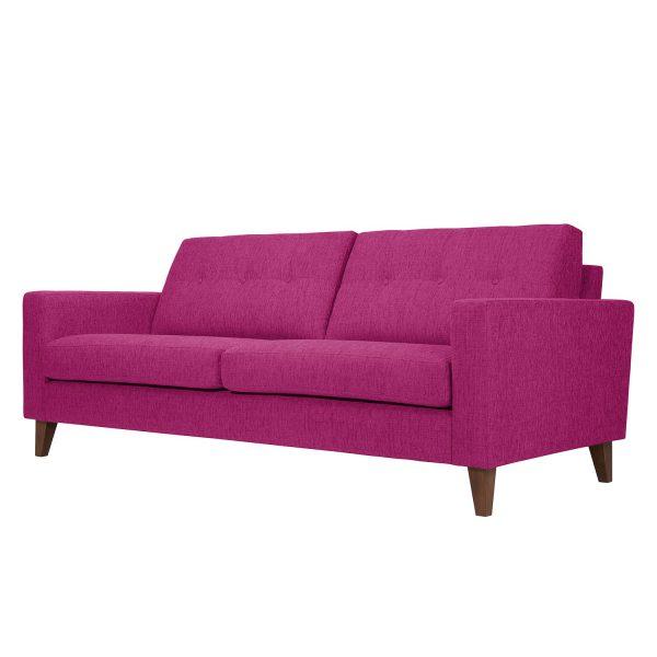 Sofa Cooper (3-Sitzer) Webstoff - Stoff Akenia Pink