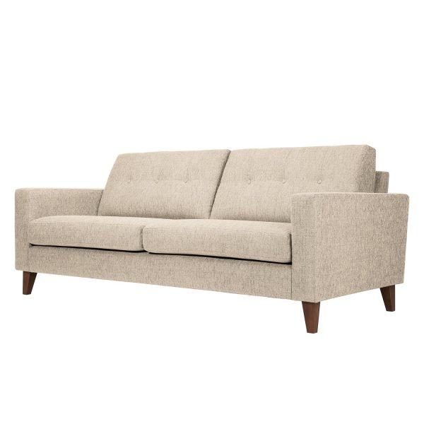 Sofa Cooper (3-Sitzer) Webstoff - Stoff Kiara Beige-Grau I