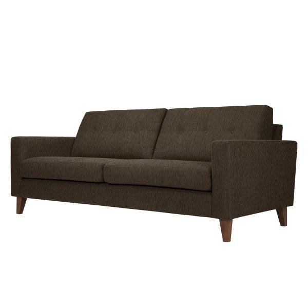 Sofa Cooper (3-Sitzer) Webstoff - Stoff Kiara Grau-Braun