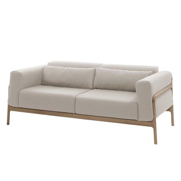Sofa Fawn (2-Sitzer) Webstoff - Eiche Hell - Stoff Ever Beige